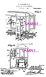 Patent Art: 1920s AMERICAN FLYER TRAIN Mailbag Loader (Image1)