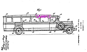 Patent Art: 1930s Lundahl - BUDDY L  TOY TRAVEL BUS (Image1)