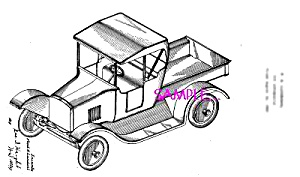 Patent Art: 1920s Lundahl - BUDDY L  TOY TRUCK (Image1)