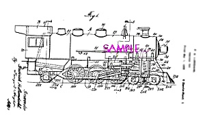 Patent Art: 1930s Lundahl - BUDDY L  TOY TRAIN ENGINE (Image1)