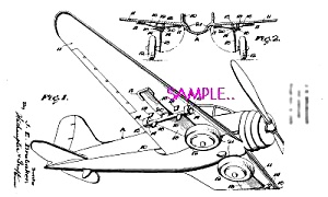 Patent Art: 1930s HUBLEY Toy AIRPLANE (Image1)