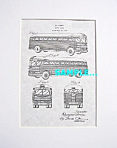 Patent Art: 1941 Greyhound Bus - Matted Print