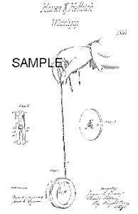 Patent Art: 1860s 1st TOY YO-YO - Matted Print (Image1)