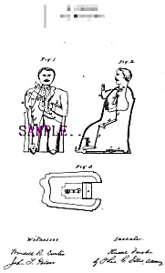Patent Art: 1875 TAMMANY HALL Mechanical BANK - matted (Image1)