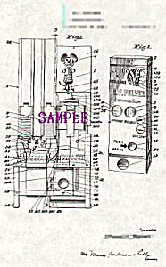 Patent Art: 1940s Pulver Gum MICKEY MOUSE Vending Mach (Image1)