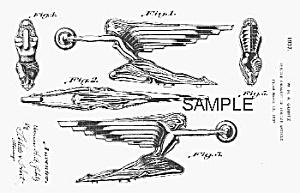 Patent Art: 1937 ART DECO Packard Mascot B - matted (Image1)