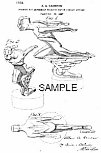 Patent Art: 1928 Art Deco MUSCLE MAN Auto Mascot (Image1)