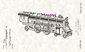 Patent Art: 1930s American Flyer Toy Locomotive