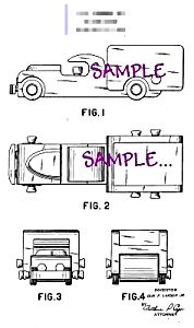 Patent Art: 1940s NOMA Toy DUMP TRUCK - matted (Image1)