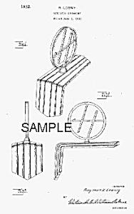 Patent Art: 1932 Art Deco LOEWY HUPMOBILE Hood Ornament (Image1)