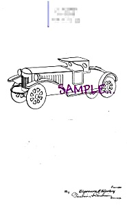 Patent Art: 1920s SCHIEBLE TOY ROADSTER - matted (Image1)