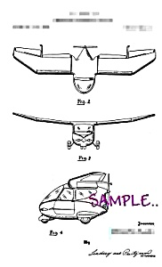 Patent Art: 1950s Combination Car-airplane - Matted