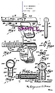 Patent Art: 1920s WYANDOTTE TOY GUN PISTOL - matted (Image1)