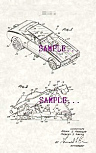Patent Art: 1970s Hot Wheels DIECAST FUNNY CAR - matted (Image1)
