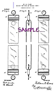 Patent Art: 1890s Barber Shop Razor Strop -matted- 8x10