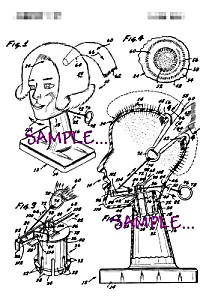 Patent Art: 1970s Mattel BARBIE? HAIR STYLING BUST (Image1)