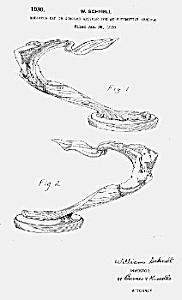 Patent Art: 1930-32 Art Deco FLYING LADY CADILLAC Hood Ornament (Image1)