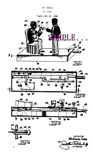 Patent Art: 1920s BLACK BANJO PLAYERS Mechanical BANK (Image1)