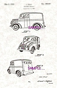 Patent Art: 1938 Divco MILK TRUCK - matted (Image1)