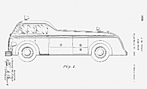 1930s FIRETRUCK FIRE TRUCK Patent-Matted (Image1)