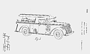 1930s FIRE PUMPER Patent-Matted (Image1)