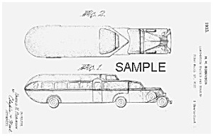 1933 CURTISS AEROCAR Trailer RV Patent-Matted (Image1)