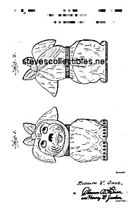 Patent Art: 1940s Shawnee Muggsy Cookie Jar