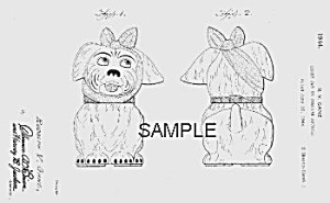 Patent Art: 1940s SHAWNEE MUGGSY Cookie Jar - Matted (Image1)
