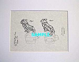 Patent Art: 1930s MACK TRUCK Bulldog Mascot - matted (Image1)