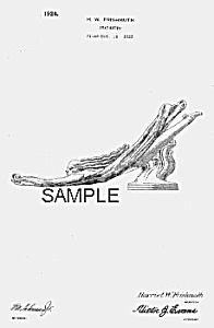 Patent Art: 1920s Art Deco STATUETTE Graphic - Matted (Image1)