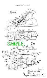 Patent Art: 1930s Millers Falls Wood Plane - Matted