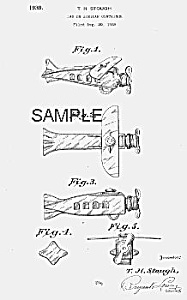 Patent Art: 1930s AIRPLANE Candy Container - Matted (Image1)