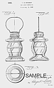 Patent Art: 1940s LANTERN Candy Container - matted (Image1)