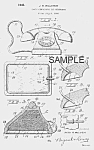 Patent Art: 1940s TELEPHONE Candy Container - Matted (Image1)
