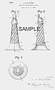 Patent Art: 1940s Horn Candy Container - Matted