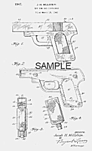 Patent Art: 1940s TOY GUN Candy Container - Matted (Image1)