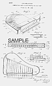 Patent Art: 1950s PIANO Candy Container - matted (Image1)