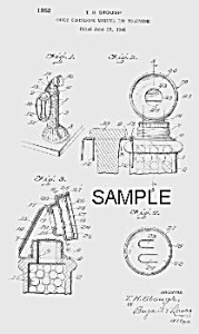 Patent Art: 1950s TELEPHONE Candy Container B - Matted (Image1)