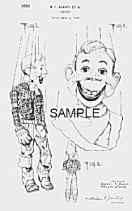 Must Have 1950s HOWDY DOODY PATENT-Matted (Image1)