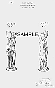 Patent Art: 1940s Metlox ROMANELLI Waterbearer - matted (Image1)