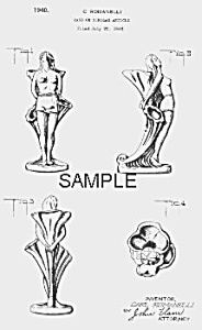Patent Art: 1940s Metlox ROMANELLI NUDE Pottery (Image1)