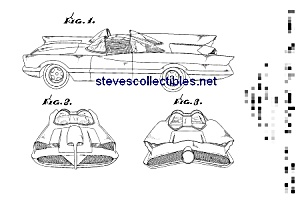 Patent Art: 1966 Barris TV BATMOBILE - matted print (Image1)