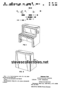 Patent Art: 1970s CHANGE-A-TUNE PIANO Fisher Price Toy (Image1)