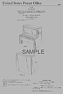 Patent Art: 1970 Change-a-tune Pianofisher Price Toy