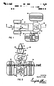 Patent Art: MIGHTY TRACTOR #629FISHER PRICE Toy (Image1)