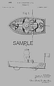 Patent Art: RACING ROWBOAT #730Fisher Price Toy-matted (Image1)