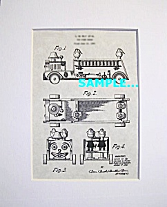 Patent Art: 1950s LOOKY FIRETRUCK #7 FISHER PRICE Toy (Image1)