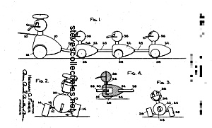 Patent Art: QUACKY FAMILY #799FISHER PRICE Toy-matted (Image1)