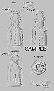 1930s Cream Top Bramhall Milk Bottle Patent
