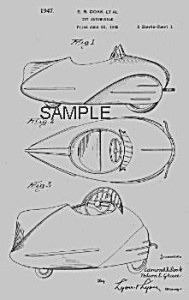 1940s Streamline PEDAL CAR Patent-Matted (Image1)